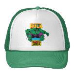Hulk Retro Comic Character Mesh Hats
