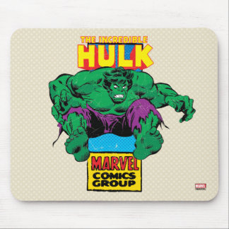 Hulk Retro Comic Character Mouse Pad