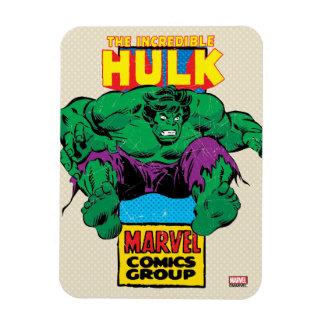 Hulk Retro Comic Character Rectangular Photo Magnet