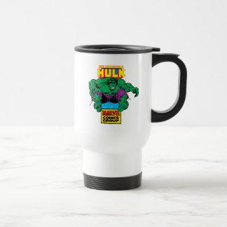 Hulk Retro Comic Character Travel Mug