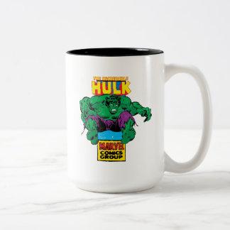Hulk Retro Comic Character Two-Tone Coffee Mug