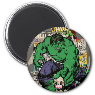 Hulk Retro Comic Graphic 2 Inch Round Magnet