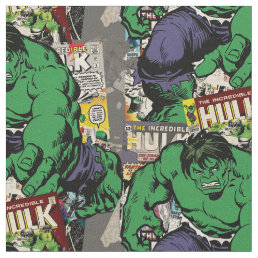 Hulk Retro Comic Graphic Fabric