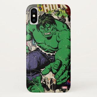 Hulk Retro Comic Graphic iPhone X Case