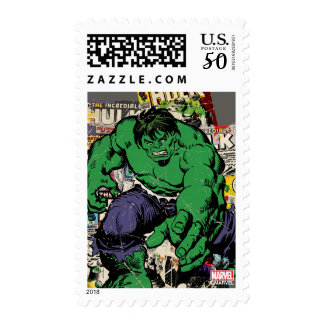 Hulk Retro Comic Graphic Postage