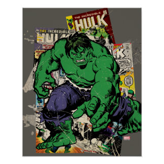 Hulk Retro Comic Graphic Poster