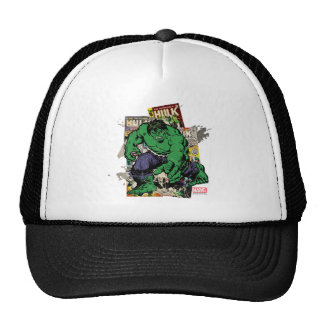 Hulk Retro Comic Graphic Trucker Hat