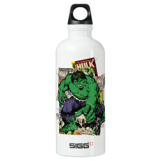 Hulk Retro Comic Graphic Water Bottle