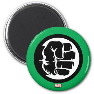 Hulk Retro Fist Icon 2 Inch Round Magnet