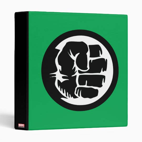 Hulk Retro Fist Icon 3 Ring Binder Zazzle