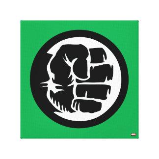 Hulk Retro Fist Icon Canvas Print