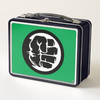 Hulk Retro Fist Icon Metal Lunch Box