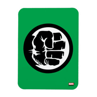 Hulk Retro Fist Icon Rectangular Photo Magnet