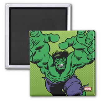 Hulk Retro Grab 2 Inch Square Magnet