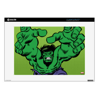 "Hulk Retro Grab Decals For 15"" Laptops"