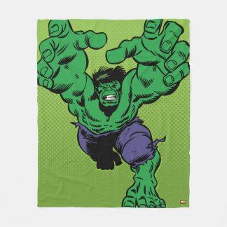Hulk Retro Grab Fleece Blanket