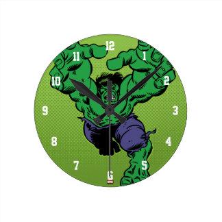 Hulk Retro Grab Round Clock