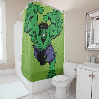Hulk Retro Grab Shower Curtain