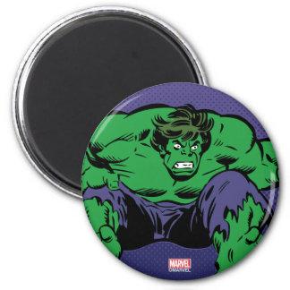 Hulk Retro Jump 2 Inch Round Magnet