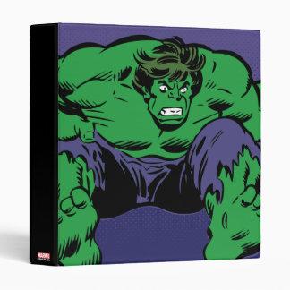 Hulk Retro Jump 3 Ring Binder
