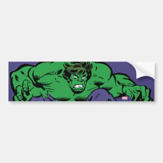 Hulk Retro Jump Bumper Sticker