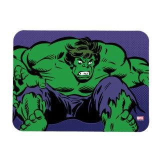 Hulk Retro Jump Rectangular Photo Magnet