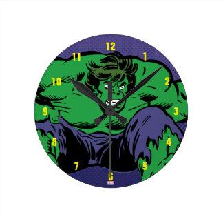 Hulk Retro Jump Round Clock