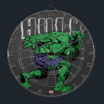 """Hulk Retro Lift Dartboard With Darts<br><div class=""""desc"""">Check out this vintage Hulk as seen on his special comic &quot;Hulk Battles The Inhumans&quot;,  as he lifts his name made out of heavy stone.</div>"""