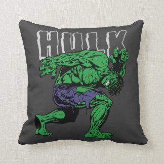 Hulk Retro Lift Throw Pillow