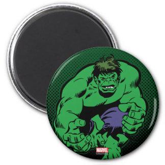 Hulk Retro Stomp 2 Inch Round Magnet