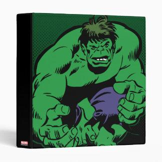Hulk Retro Stomp 3 Ring Binder