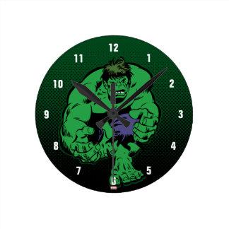Hulk Retro Stomp Round Clock