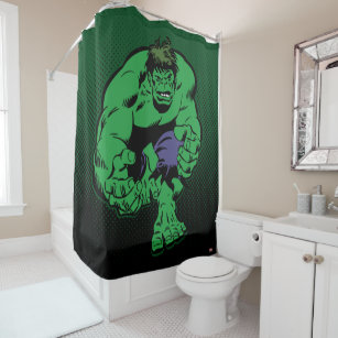 Hulk Retro Stomp Shower Curtain