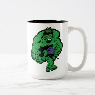 Hulk Retro Stomp Two-Tone Coffee Mug