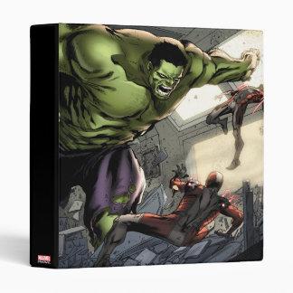 Hulk Smashing His Enemies Binder