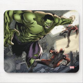 Hulk Smashing His Enemies Mouse Pad