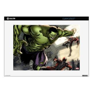 """Hulk Smashing His Enemies Skin For 15"""" Laptop"""