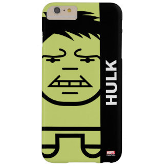 Hulk Stylized Line Art Barely There iPhone 6 Plus Case