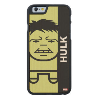 Hulk Stylized Line Art Carved Maple iPhone 6 Slim Case