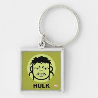Hulk Stylized Line Art Icon Keychain