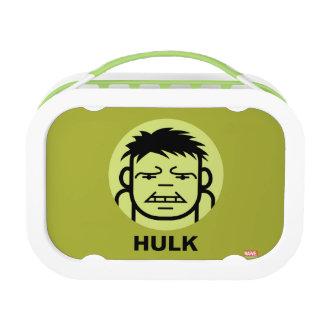 Hulk Stylized Line Art Icon Lunch Box