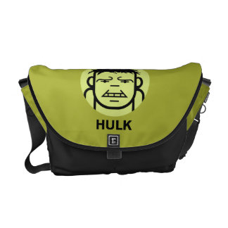 Hulk Stylized Line Art Icon Messenger Bag