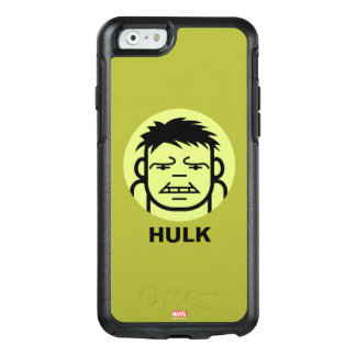 Hulk Stylized Line Art Icon OtterBox iPhone 6/6s Case