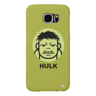 Hulk Stylized Line Art Icon Samsung Galaxy S6 Case