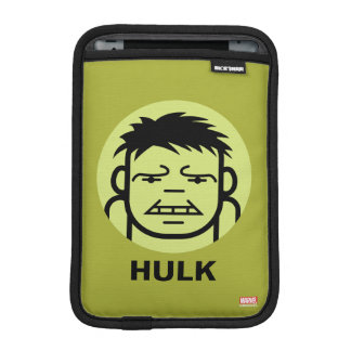 Hulk Stylized Line Art Icon Sleeve For iPad Mini