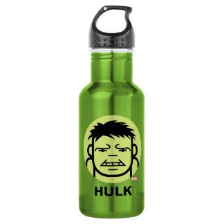 Hulk Stylized Line Art Icon Stainless Steel Water Bottle