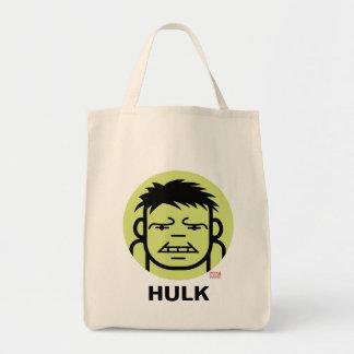 Hulk Stylized Line Art Icon Tote Bag