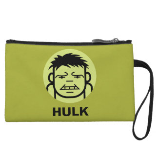 Hulk Stylized Line Art Icon Wristlet Wallet