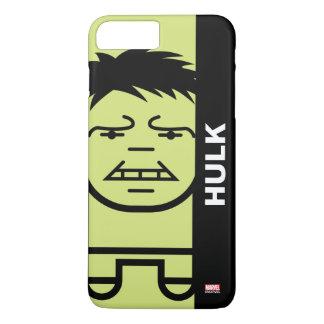 Hulk Stylized Line Art iPhone 7 Plus Case