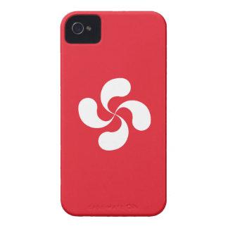 """Hull Blackberry Bold Cross Basque """"Lauburu """" iPhone 4 Case-Mate Case"""